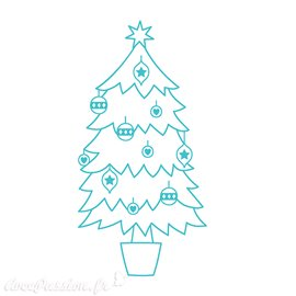Tampon clear stamps Simply Creative Christmas Tree 3x4cm