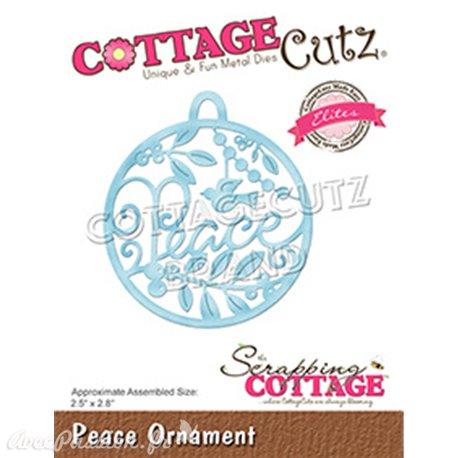 Dies découpe Cottage Cutz Peace Ornament 6cm