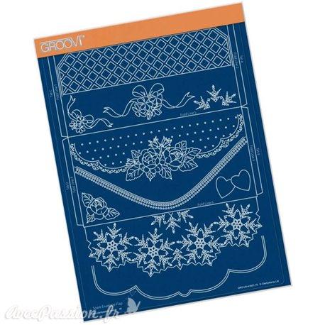 Groovi gabarit parchemin enveloppe Linda it's a wrap A4 : 21X29.7cm