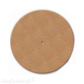 Horloge ronde à décorer en médium mdf 21.5cm