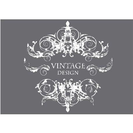 Pochoir décoratif silk screen vintage design 20x20cm
