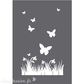 Pochoir décoratif papillons 15x20cm