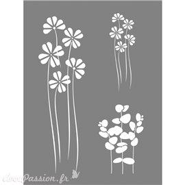 Pochoir décoratif fleur 15x20cm