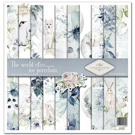 Papier scrapbooking The world of ice porcelain assortiment 1 tag + 10 feuilles 30x30