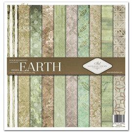Papier scrapbooking Four elements Earth assortiment 1 tag + 10 feuilles 30x30