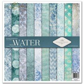 Papier scrapbooking Four elements Water assortiment 1 tag + 10 feuilles 30x30