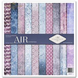 Papier scrapbooking Four elements Air assortiment 1 tag + 10 feuilles 30x30