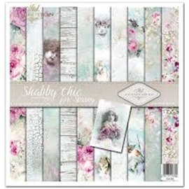 Papier scrapbooking Shabby Chic for Spring assortiment 1 tag + 10 feuilles 30x30