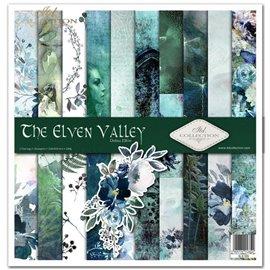 Papier scrapbooking The Elven Valley assortiment 1 tag + 10 feuilles 30x30
