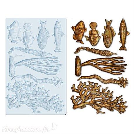Moule Prima ReDesign en silicone flexible Coral Reef