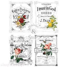 Transfert pelliculable Maisie & Willow Decor Transfers - LIGHT & FLOWERS