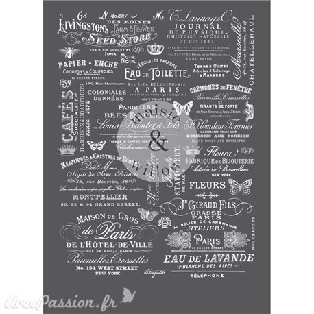 Transfert pelliculable Maisie & Willow Decor Transfers Delightful Labels 40x58