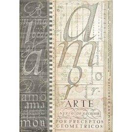 Papier de riz Stamperia 21x29,7cm Alphabet