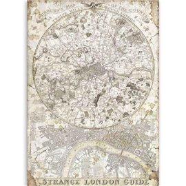 Papier de riz Stamperia 21x29,7cm Lady Vagabond guide étrange de Londres