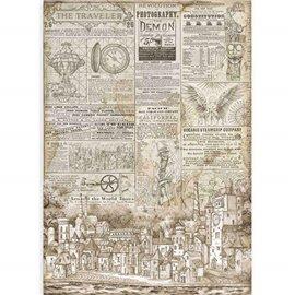 Papier de riz Stamperia 42x30cm Sir Vagabond Le voyageur
