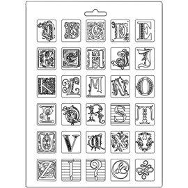 Moule décoratif thermoformé Stamperia Alphabet