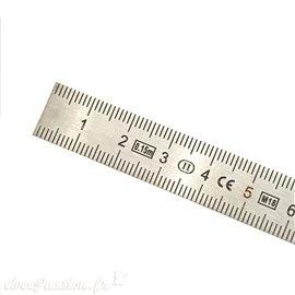 Règle métallique acier inoxydable 15cm