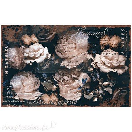 Papier de murier mulberry imprimé Redesign 48x76cm Uniqua