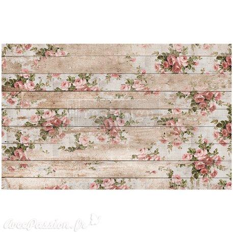 Papier de murier mulberry imprimé Redesign 48x76cm Shabby Floral