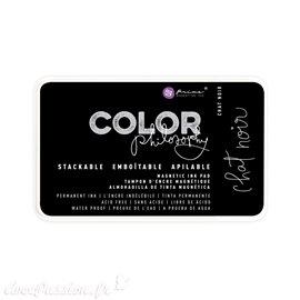 Encre permanente pour tampon Color Philosophy chat noir