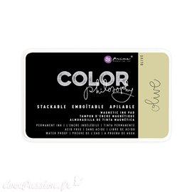 Encre permanente pour tampon Color Philosophy olive