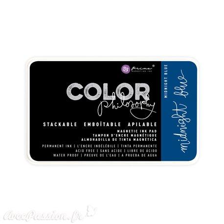 Encre permanente pour tampon Color Philosophy midnight blue