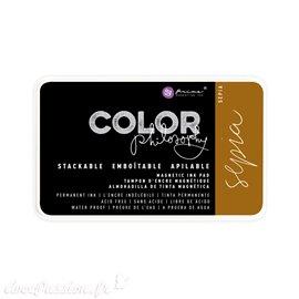Encre permanente pour tampon Color Philosophy sepia