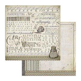 Papier scrapbooking réversible Stamperia doube face 30x30 Encre