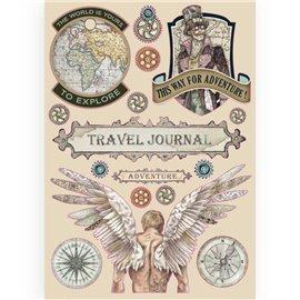 Chipboard en bois silhouettes entaillées Sir Vagabond Journal de voyage