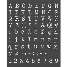 Pochoir décoratif Stamperia Alphabet et chiffres 20x25cm