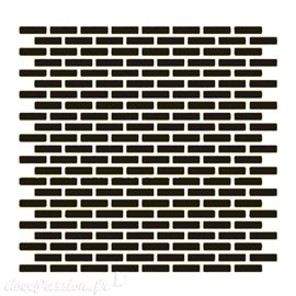 Pochoir plastique mur de briques 16x16cm