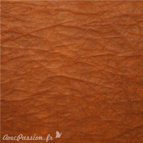 Papier fantaisie cristal marron clair brun -