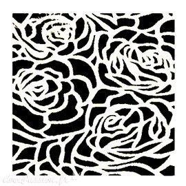 Pochoir plastique fond de roses 16x16cm