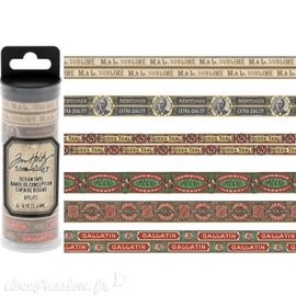 Masking tape Tim Holtz Humidor 6 rouleaux 5.49m idea-ology