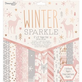 Papier scrapbooking assortiment Winter Sparkle 36fe 30x30