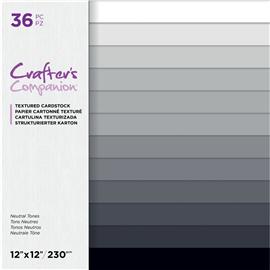 Papier scrapbooking cartonnée texturé 30x30 assortiment tons neutres 36fe