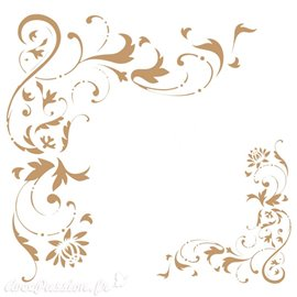 Pochoir décoratif Filigrana 20x20cm