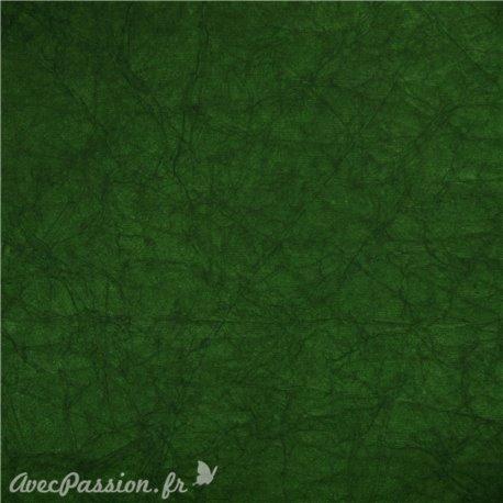 Papier fantaisie cristal vert foncé forêt -