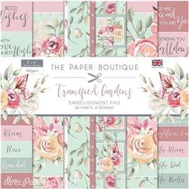 Papier scrapbooking Paper Boutique Tranquil gardens 20x20cm Embellishments pad