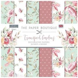 Papier scrapbooking Paper Boutique Tranquil gardens 20x20cm Paper pad