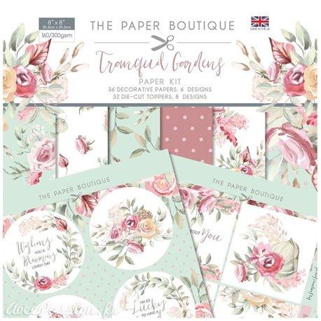 Papier scrapbooking Paper Boutique Tranquil gardens Paper kit