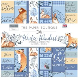 Papier scrapbooking Paper Boutique Winter wonders 20x20cm Embellishments pad
