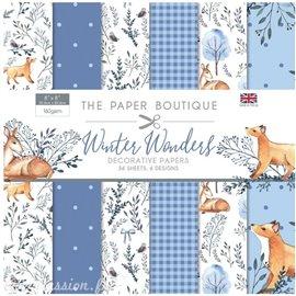 Papier scrapbooking Paper Boutique Winter wonders 20x20cm Paper pad