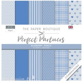 Papier scrapbooking Paper Boutique Perfect partners paper pad Blueberry punch