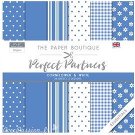 Papier scrapbooking Paper Boutique Perfect partners paper pad Cornflower