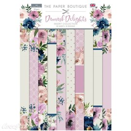 Papier scrapbooking Paper Boutique Damask delights insert collection