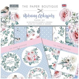 Papier scrapbooking Paper Boutique Morning whispers paper