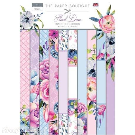 Papier scrapbooking Paper Boutique Floral daze insert