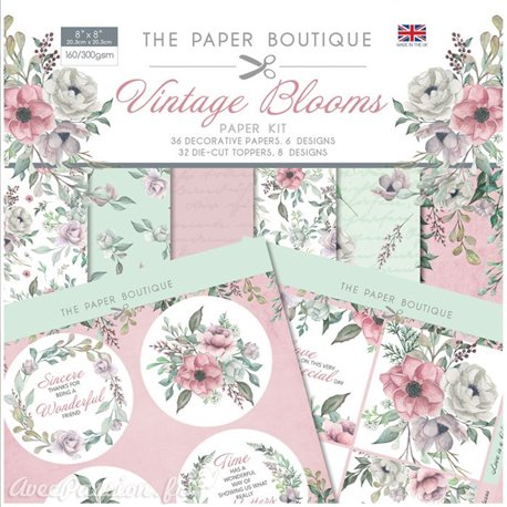Papier scrapbooking Paper Boutique Paper kit Vintage blooms
