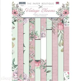 Papier scrapbooking Paper Boutique Insert collection Vintage blooms